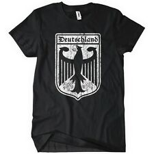 Deutschland Crest TShirt Sports World Soccer German Cup 2014 Eagle Tee Retro Tee