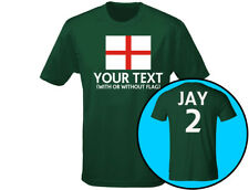 """England """"Your Text"""" Kids Football Personalised T-Shirt Unisex (12 Colours)"""