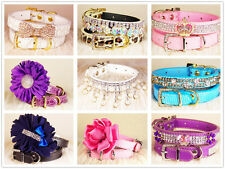 Personalized 9 style Dog Collar Cat Collar for small dog choose Size XS S M