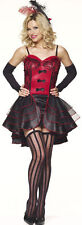 MOULIN ROUGE DANCER SALOON GIRL SEXY FANCY DRESS OUTFIT COSTUME, SIZES: S-XL