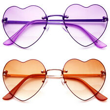 Color Rimless Heart Glasses Thin frame Party favor gift for her costume love
