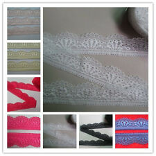 Beautiful high-quality embroidered stretch lace ribbon 5/10/20/50 yards