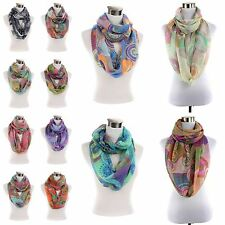 New Retro scale print pattern large light weight infinity scarf scarves