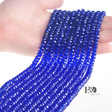 Wholesale 6mm Sapphire Blue Crystal Beads Each Of 100 Flat Beads Xmas Lady Gifts