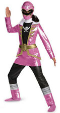 Child TV Show Super Megaforce Power Rangers Pink Ranger Deluxe Dress Costume