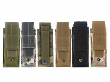 Camo Tactical Open Top Single Mag Bag Magazine Holster Pouch with Belt Clip