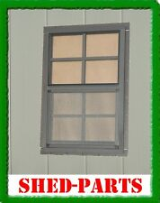 14x21 BROWN SHED WINDOW PLAYHOUSE BARN OUTDOOR BUILDING BUILD SMALL GLASS