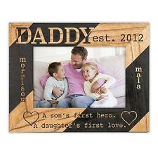 Personalized Dad Frame From Son and/or Daughter w/ Names, Frame Color, and Size