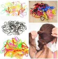 Colorful Elastic Hair Band Mini Rubber Hairband Rope Ties Braids Ponytail Holder