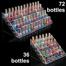 New 6-Layer Acrylic Nail Polish Bottles Display Organizer Rack Stand Holder Top
