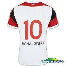 Ronaldinho #10 Away Flamengo Olympikus Soccer Football Jersey Men L Brazil 2011