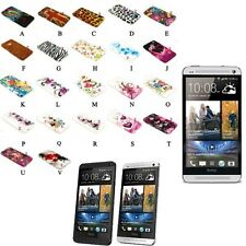 Pictorial Pattern Soft TPU GEL Case Cover for HTC ONE M7 810e