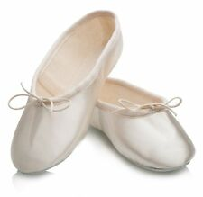 Ivory Satin Rubber Full Sole Ballet Shoes Childs & Adults All Sizes By Katz