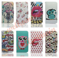 Flip Cover PU Magnetic Leather Wallet Stand Case For Samsung S5 I9600 S4 S3 Mini