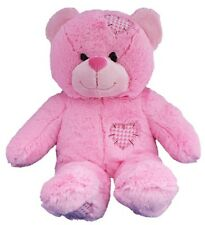"""15"""" (40cm) NO-SEW PINK PATCH BEAR TEDDY MAKING KIT WITH OPT T-SHIRT/SOUND BOX"""