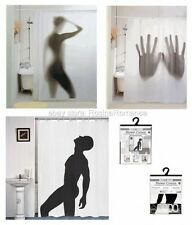 Novelty Shower Curtain Silhouette Naked Sexy Woman Man Hands Bathroom Gift
