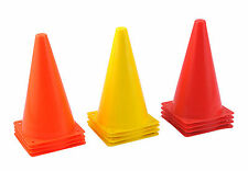 """SET OF 8 ( 45CM 18"""" ) LARGE PRACTICE CONES SOCCER FOOTBALL RUGBY TRAINING"""