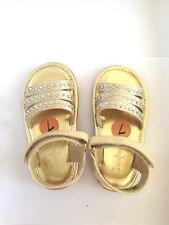 Cole Haan Lil Cait Gold Beige Sandal rhinestone size 7 TODDLER Girls shoes new