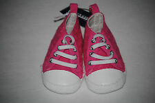 Old Navy Girl's Pink Lace Athletic Elastic Lace Slip On Shoes, 0 to 24 Months