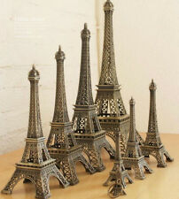 Retro Bronze Tone Paris Eiffel Tower Sculpture Retro Model Home Decors 5-48cm