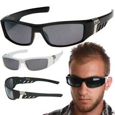 LOCS Hardcore Wrap Sunglasses Gangster Biker Mens Cholo Dark Black Lens Shades