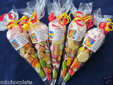Personalised pre filled Lego brick/s lg sweet/s cones party bag fillers/stocking