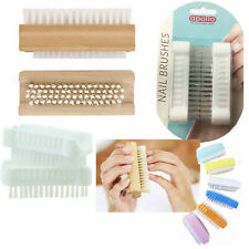 Manicure Double-Side Nail Scrubby Hand Brush Plastic Toe Finger Bath & Cleaning