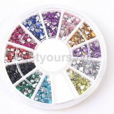 3D Mix Nail Art Decoration Strass Glitter Acryl Sticker Nagel Tips 12 Color