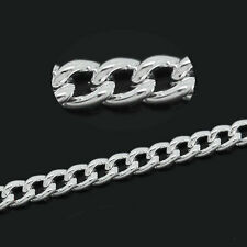 Wholesale Market Cable Chains Silver Plated 2mm