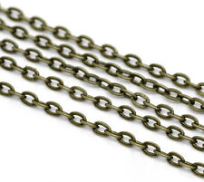 Wholesale Lots Bronze Tone Flat Link-Opened Chains 3x2mm