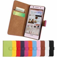 For Huawei Ascend P6 Magnetic Close leather wallet case cover skin Free shipping