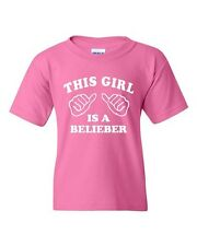 This Girl Is A Belieber Novelty Statement Youth Kids T-Shirt Tee
