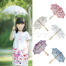 New Lace Embroidered Parasol Umbrella For Bridal Wedding Party Decoration