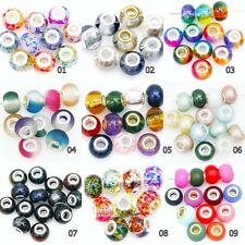 10pcs European Loose Glass Crystal Pearl Spacer Beads  For Jewelry Findings