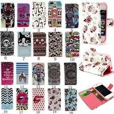 Luxury Magnetic Wallet Stand PU Leather Flip Phone Case Cover For iPhone 5 5S 5G
