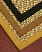 Rustic Natural Fiber Sisal Rug [Available In Custom Border Color & Sizes]