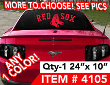 "BOSTON RED SOX DECAL STICKER 24""w x 10"" ANY 1 COLOR MORE DESIGNS SEE PICS"