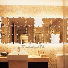 Fashion Acrylic Mirror Wall Stickers Mounted Set Home Room Decor Shaped Decals