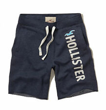 Hollister by Abercrombie Men Athletic Fleece Sweat Shorts Seagull - Free $0 Ship