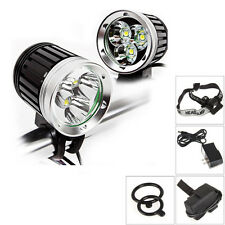 3800lm 3x Cree Xm-l T6 Led Outdoor Headlight Headlamps Bicycle Bike Lights New