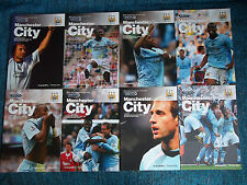 MANCHESTER CITY HOME 2007- - 2013  PREMIER  FA CUP & LC  ALL LISTED
