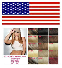 """Hot Multicolor Straight 20""""22"""" Clip In Remy Real Human Hair Extensions USA STOCK"""