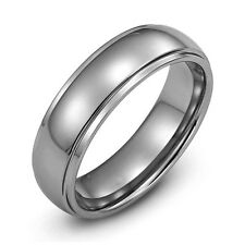 Fine Men's Durable 8mm Tungsten Carbide Wedding Band Ring Size 9 10 11 12