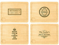 XL Personalised Meat Carving / Chopping Board Chef 5th Anniversary, Wedding Gift
