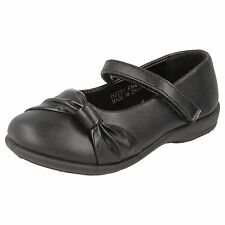 "GIRLS SPOT ON BLACK PU SHOES ""H2281"""