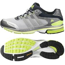 Mens Adidas Supernova Glide 5 Running Sneakers New, Gray Lime Q33795