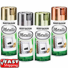 Rust-Oleum Metallic Silver Gold Brass Copper 312g Spray Paint Reflective Finish