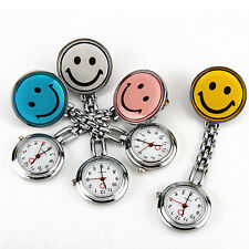 Lovely 4 Colors Smile Face Nurse Watch Silicone Pocket Clip Portable Kids Gif
