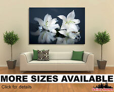 Wall Art Canvas Print (Unframed) - Easter Lily Flowers Macro Closeup