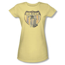 The Iron Giant Science Fiction Animated Movie Patch Juniors Sheer T-Shirt Tee
